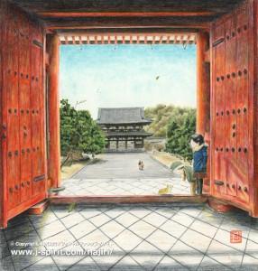 新しい朝(京都・仁和寺)