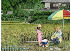 収穫の日の思い出